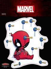 Deadpool Target Sticker - Plonked - Cartoon - Comic Character - Window - Auto De