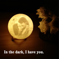Personalized Photo Lunar Lamp Night Light 3D Printed Custom Love Gift For Her