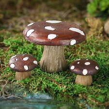 Mushroom Table and Stools  3 pcs  DA 30007647 Miniature Fairy Garden