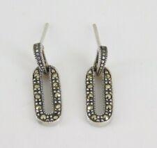 925 Sterling Silver Marcasite Earrings