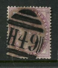 RAILWAY GB QV WINGATE STATION H49 on PENNY LILAC
