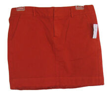GAP Size 00 Petite Orange Distressed Twill Mini Skirt NWT