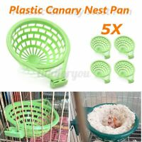 5 Pcs  Birds Nest Pan Box Finehes Canary for Nesting Hatch Birth 4xx5cm