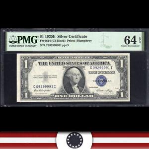 1935-E $1 SILVER CERTIFICATE *C-I Block*  PMG 64 EPQ  Fr 1614  C09299991T-WWZ
