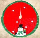 """SNOWMAN velvet-like Christmas Tree Skirt NICE! 46"""""""