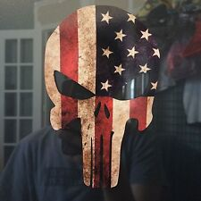 INFIDEL SKULL - SPECIAL FORCES AMERICAN SNIPER, USA FLAG SKULL DECAL