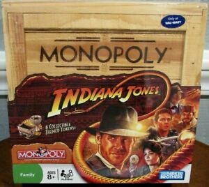 """PARKER BROTHERS """"INDIANA JONES"""" MONOPOLY GAME IN NUMBERED WOODEN CRATE - SEALED"""