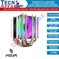 Dissipatore FAN 9 cm 4 Colori Fissi Intel 1200/775/115x/1366/2011 AM3 AM4 Noua
