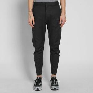 Nike Tech Bonded Sweat Track Pants Sz:28 Men's Black 886166-010 Zip Rare
