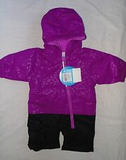 Columbia Baby Girl Size 0-3 Months Little Dude Snow Suit Bright Plum Cheetah