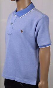 Childrens Polo Ralph Lauren Blue Mesh Shirt Multi Colored Pony NWT