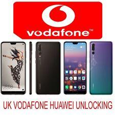 UK VODAFONE HUAWEI P20 PRO P20 P20 LITE P10 PLUS MATE 10 Y7 PRO P9 UNLOCK CODE