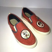 Disney X Junk Food Womens Mickey Mouse Shoes Sz 6 Slip on Red White Blue