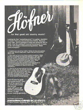 HOFNER GUITAR AD acoustic bluegrass country mandolin