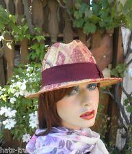 Sombrero Mujer Trilby ELEGANTE DE PAJA moderno Italia gorro verano sol