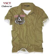 VSCT Poloshirt *Clubwear Logo Patch* Double Look T-Shirt khaki Polo *Gr. XL *Neu