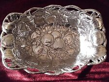 Arthur Court 1992 Collectible Apple Branch And Leaves Serving Fruit Bowl New