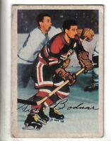 1953-54 Parkhurst Hockey Card #75 Gus Bodnar Chicago Black Hawks VG/EX.