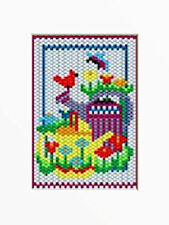 WATERING CANS BEADED BANNER  PDF PATTERN ONLY