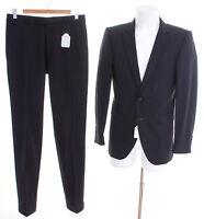 strellson Anzug Gr. DE 90 Herren Business Suit Dunkelblau Wolle