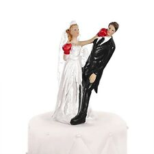 Boxing Bride Comical Cake Topper - Bride & Groom Wedding Cake Topper