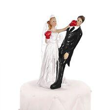 PUGILATO COMMEDIA CAKE topper Sposa-sposa e sposo wedding cake topper