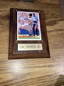 """Vintage Cal Ripkin Jr, Sports Collectibles Mounted Card Plaque  4""""x6"""""""