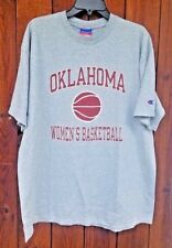 Oklahoma Sooners Womens Basketball Champion Vintage Gray T-shirt size 2XL