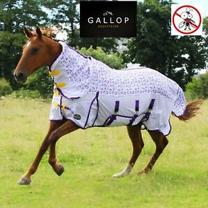 MESH FLY RUG Gallop Bees & Butterflies Fixed Neck Ultra Breathable UV Protection