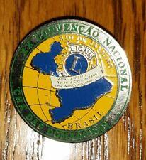 Vtg Lions Club Pin XX CONVENÇAÕ NACIONAL CHÁ DAS DOMADORAS BRAZIL Rio de Janeiro
