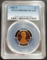 1982-S Lincoln Cent PR69RD DCAM PCGS Proof 69 Red Deep Cameo Graded Coin