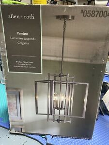 Allen Roth - Pendant - Geometric Light Brushed Nickel Finish - #587004 -
