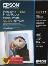 Papier Epson Premium Glossy Photo 13x18 30 feuilles 255g C13S042154