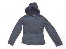 Black PULSE Form Fitting XS Swan Cable Knit Ski Snowboard Jacket Faux Mink