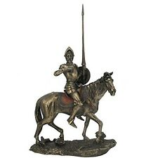 "13.5"" Don Quixote de la Mancha On Horse w/ Armor Statue Riding Horse Spain"