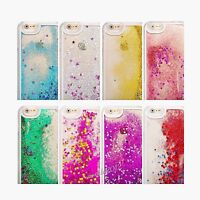 Glitter Bling Stars Liquid Novelty Colourful Phone Case For iPhone & Samsung