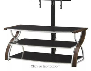 """Whalen Furniture-3-in-1 Console for Most Flat-Panel TVs Up to 65"""" - Brown Cherry"""