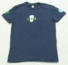Anvil Blue Seahawks LOB Tee T-Shirt Small Solid Women Womans Cotton Crewneck Top
