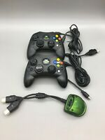 Original Wired Microsoft Xbox Controllers Lot of 2 P/N X08-69873 D23