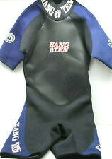 Hang Ten Shorty Wetsuit 3/2 mm Size Mens Large Neopreme Nylon Black Blue Shortie
