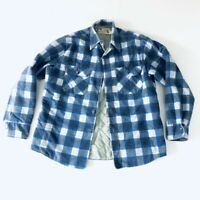 FIELDMASTER Vintage Lined Flannel Shirt Jacket Perma-Prest Large USA Made 26V