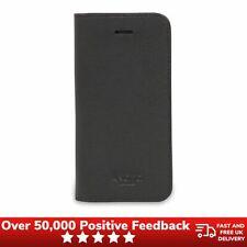 Knomo iPhone caso Folio De Cuero Negro Para 5S/SE