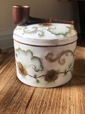 Rare Vintage Giraud Limoges, France Hand Painted Seasons Tobacco Jar