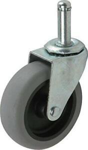 Shepherd Hardware 9807 3-Inch Swivel Stem Caster, Rubber Wheel, 7/16-Inch Stem