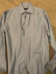 Canali Blue Shirt Size 15 1/2 Inch Neck