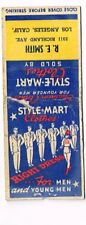 1930s CALIFORNIA Los Angeles R E Smith Style-Mart Clothes Matchcover