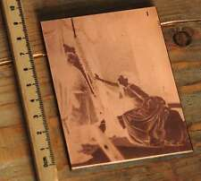 Galvano Kupferklischee Druckplatte Druckerei Bleisatz imprimerie letterpress rar