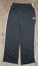 ADIDAS Classic Black/White TRACK PANTS Gym Athletic Sweat Soccer Sz Men's XL