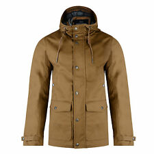Threadbare New Men's Cotton Hooded Skywalker Jacket Dark Navy & Tan Long Coat