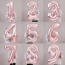 """40"""" светло розовое золото номер фольга гелий воздушный шар для дня рождения вечеринки украшение МОТ"""